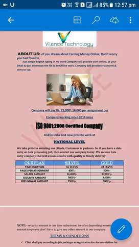 Data entry work home based