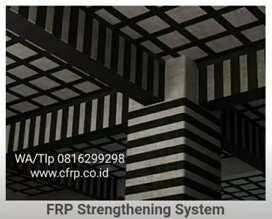 Perkuatan perbaikan beton jacketing, carbon FRP, grouting injeksi CFRP