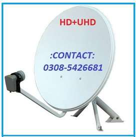 Dish Antena HD+SD New Services Conection Dish setting / Repairing