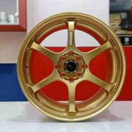 velg racing murah MISAKI H208 HSR R16X7 H8X100-114,3 ET40 GOLD