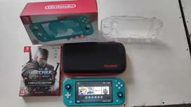 Nintendo Switch Lite Turquoise + The Witcher 3 Wild Haunt  Edition