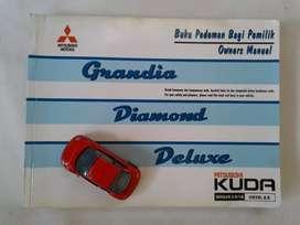 Mitsubishi Kuda Grandia Diamond Deluxe 2002 - Buku Pedoman Pemilik
