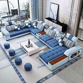 Sofa Sofa U Minimalis Kursi Ruang Tamu Letter U