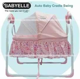 Baby box babyelle pink bisa auto swing  box bayi