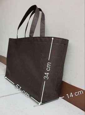 Shopping Bag Tas Belanja Warna Coklat