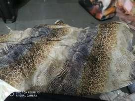 Animal print saree