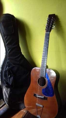 Gitar akustik 12 senar vintage lawas antik