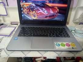Laptop Asus x441 celeron CPU 3060  RAM 2GB HDD 500GB