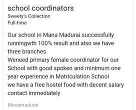School coordinators  (female)