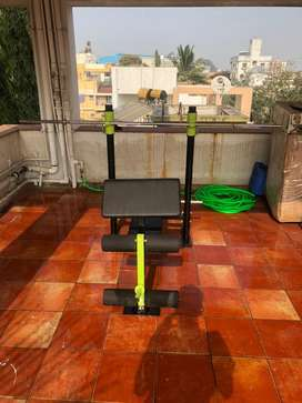 Gym Bench with weights (6 in 1 adjustable bench)