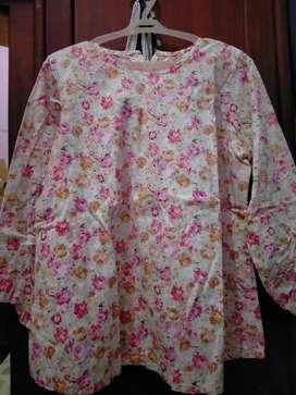 Baju Flower Size Besar