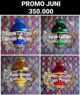 Produksi Lampu Antik Gantung Katrol Klasik Hias Joglo Gebyok