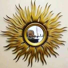 Pigura cermin hias cermin kaca