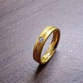 Cincin Pernikahan Simple [BISA COD, BAHAN TIDAK MUDAH LUNTUR]