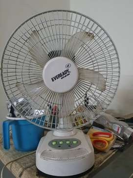 Urgent sell small table fan & light