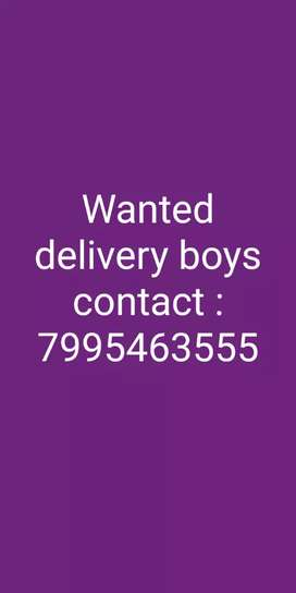 Wanted delivery boys in shankarpally