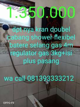 Pemanas air pakai gas elpiji