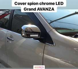 Cover Tutup Spion Chrom Lampu LED Sipit Grand AVANZA Great XENIA