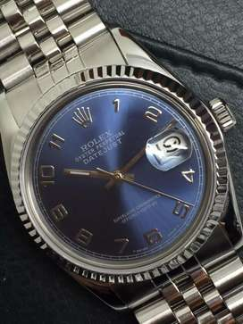 Rolex Men SS Datejust Blue Arabic di