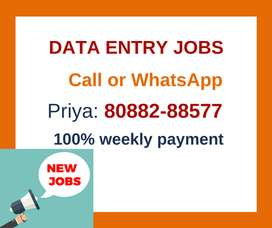 Weekly payment Data Entry jobs. Limited vacancies. Apply Now