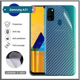 Garskin HP Karbon Backdoor Anti Jamur Samsung A21
