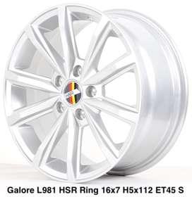 velg murah emission hsr ring 16x7 hole5x112 warna silver