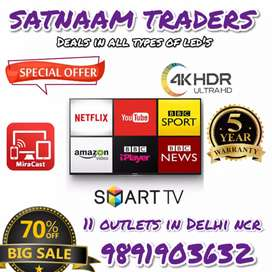 """52"""" INCHES SMART LED 4K _ 5 Years Warranty 4K"""