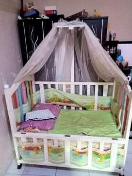 Ranjang anak/Box bayi kayu