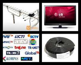 Teknisi Pasang Sinyal Antena Tv Digital Uhf
