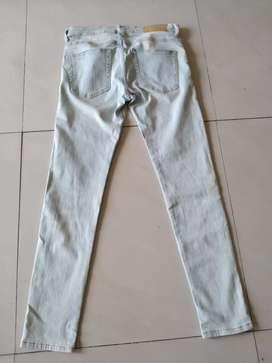Celana jeans h&m skinny selvedge size 30 strech/karet