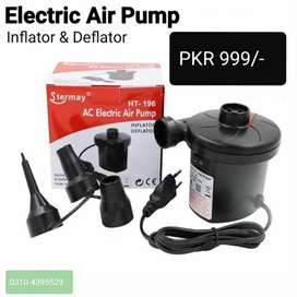 Electric Air Pump. Quick Fill Inflator and Deflator for Pools and Toys