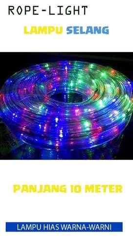 lampu led strip selang / rope light RGB warna warni 10m 10 meter ID93