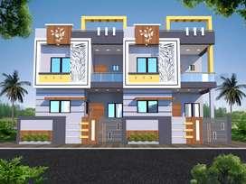 New duplex 950 sqft 3bhk in hudkeshwar NO RL