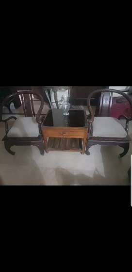 Sofa set and coffee table with drawer