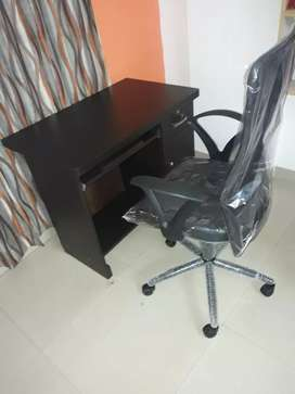Brand New Office CumputerTable nd Revolving chair High quality Strong