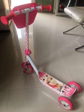 Kids scooter licensed by Barbie