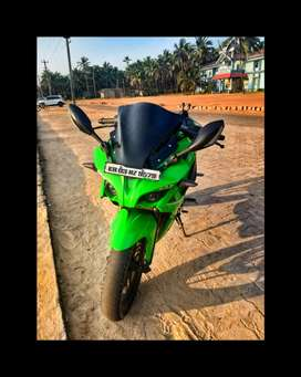 Bike is in good condition .. modified bike.green
