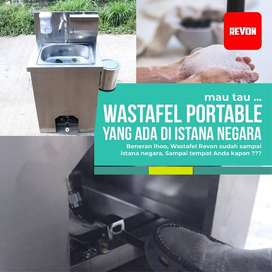 wastafel portable cuci tangan stainless kran pedal premium di lumajang