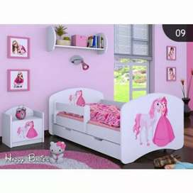Girl double bed