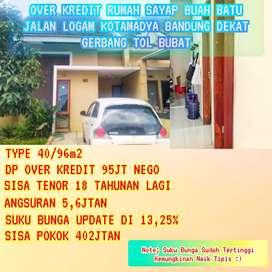 Take Over Kredit Rumah Di Jalan LOGAM Sayap Buahbatu DP MURMER Kodya !