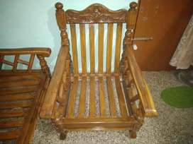 ORIGINAL TEAK WOOD SOFA (3+1+1)