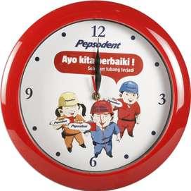 Jam dinding promosi sovenir murah dengan desain sesuka hati