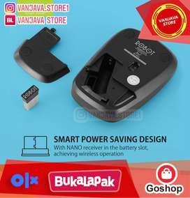 robot mouse wireless M220 2.4G Optical Mouse original bonus baterai