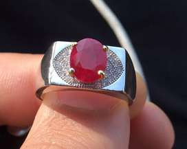 2.25 ct Ruby from mozambique Pigeon Blood Red color .