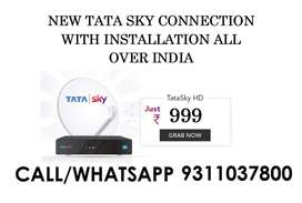 NEW TATA SKY CONNECTION WITH INSTALLATION START RS 999/-