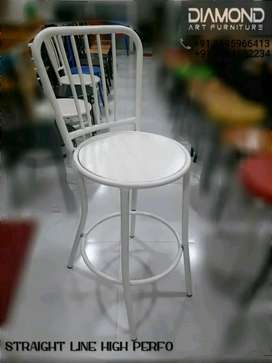 NEW CAFE HOTEL RESTAURANT STRAIGHT LINE PERFO HIGH CHAIR (FACTORY)