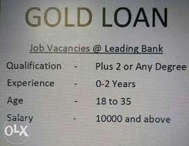 Gold Loan Field executive at leading bank