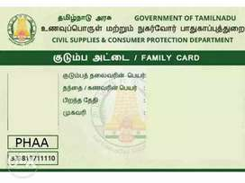 Tamilnadu Smart ration card , Voter ID card,  New/update correction.