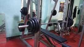 Paket alat gym fitnes fitness center bekas jual nego