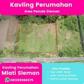 Jual Tanah Mlati, di Cebongan Sleman Jalan Kavling 8 Meter